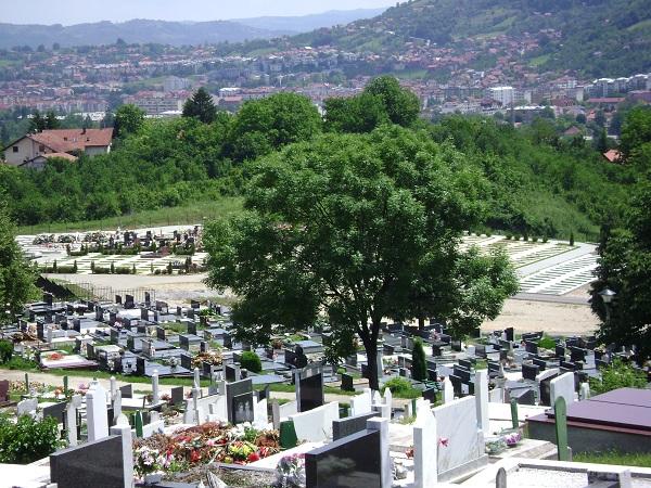 novo groblje - pobrdje